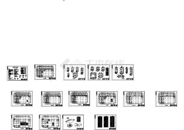 某四层框架结构教学楼建筑结构毕业设计CAD图纸(含计算书)-图二