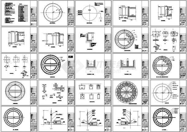 旱喷泉喷水池工程全套施工图(R=6000,建筑结构)-图一