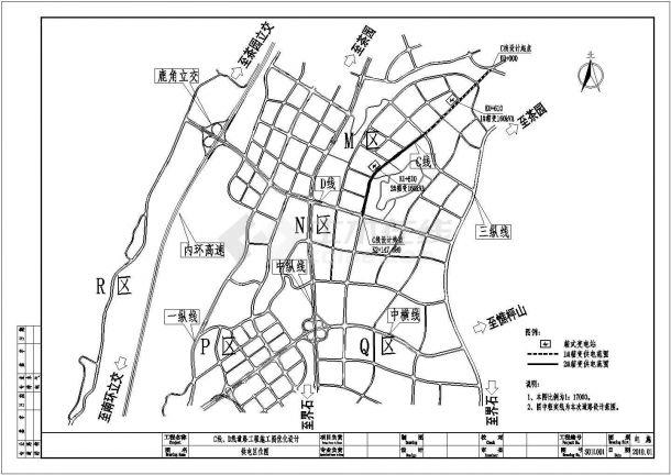 某市政电气道路照明工程设计cad全套施工图纸(含设计说明,139张图)-图二