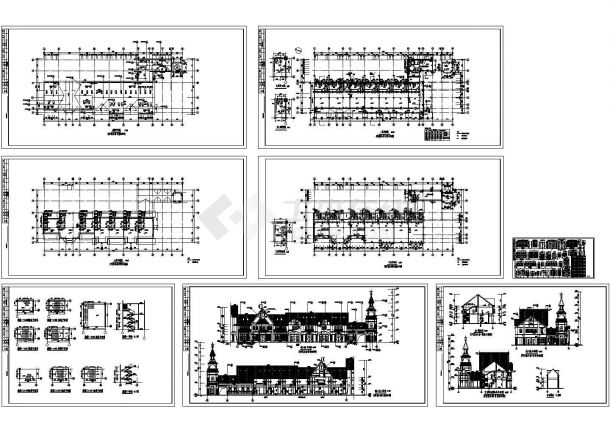 英式风格商业园林施工图,带效果图-图一