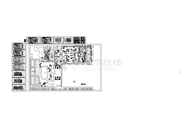 某学校五层框架结构图书馆设计cad全套建筑施工图(含总平面图,18图)-图一