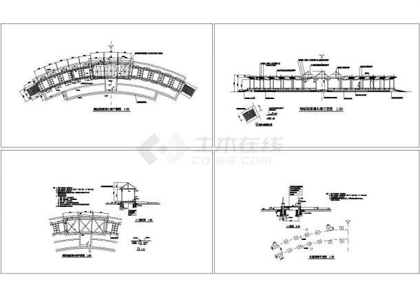 钢结构玻璃长廊全套建筑结构设计施工图-图一