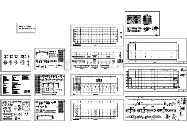某21m-15m跨单层轻型钢结构门式刚架结构设计施工CAD图-图一