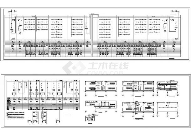 4X1000KVA变电所电气CAD施工图-图一