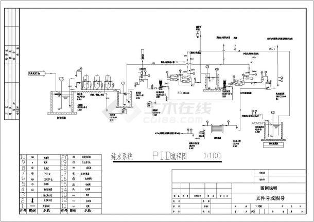 全套电镀废水处理工程工艺流程图纸-图一