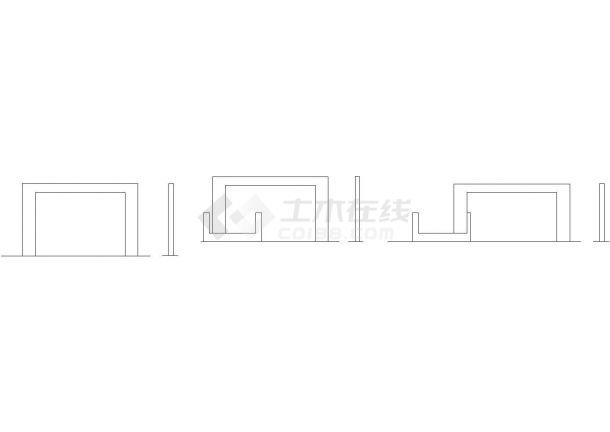 彩钢景墙节点详图-图一