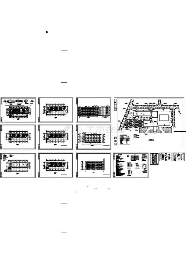 某2516平方米福建五层框架结构高等院校教学楼建筑施工CAD图-图一