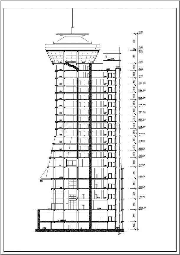 某地16层框剪结构五星级酒店设计方案图-图一