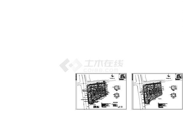 某保障性安居工程设计cad电气市政外线图(含设计说明)-图一