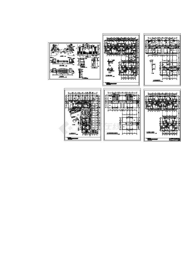 宏润 . 阳光花园居民小区完整建筑图施工-图一