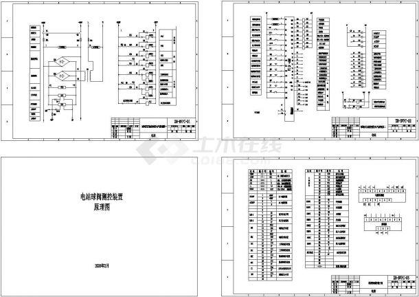 [原理图]某电站球阀测控装置设计cad电气原理图(大院设计)-图一