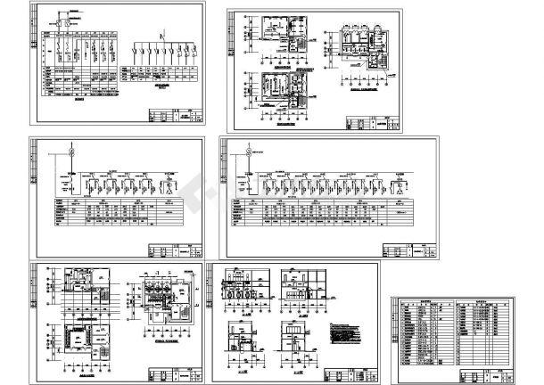 某10KV变电所电气设计cad全套施工图纸(含照明设计)-图一