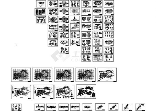 世纪广场及中心路景观绿化园林工程施工全套图【共65张图】-图一