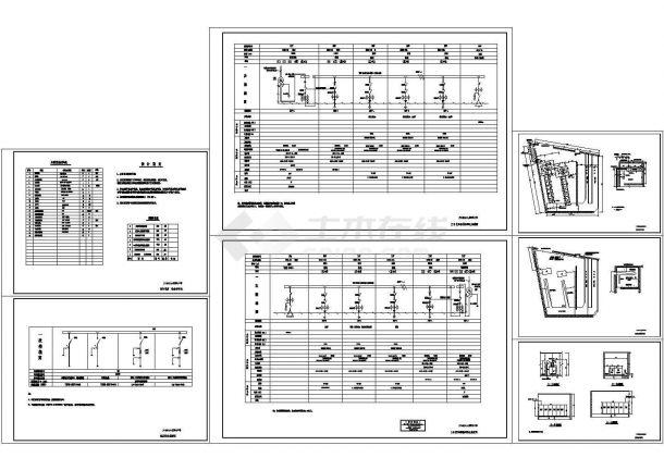 某建筑变配电工程(两台1600KVA变压器)设计cad全套电气施工图纸(含设计说明)-图一