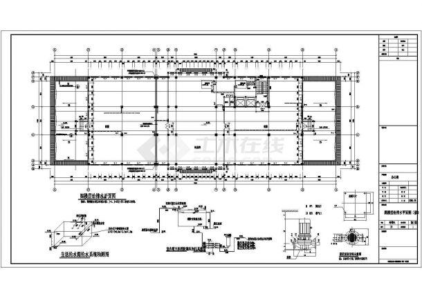 某办公楼屋顶消防水箱设计图-图一