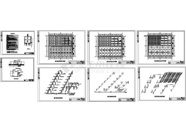 温室大棚水池管道布置图cad详图-图二