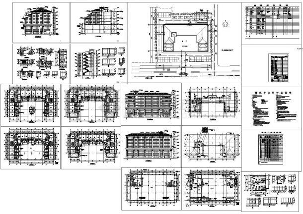 2873.9平米酒店全套建筑设计施工图-图一