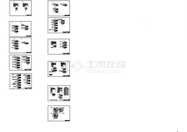 某四层体育馆智能照明系统全套CAD图纸-图一