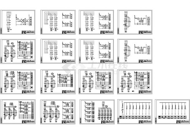 某造纸废水处理电气控制原理CAD图纸-图一