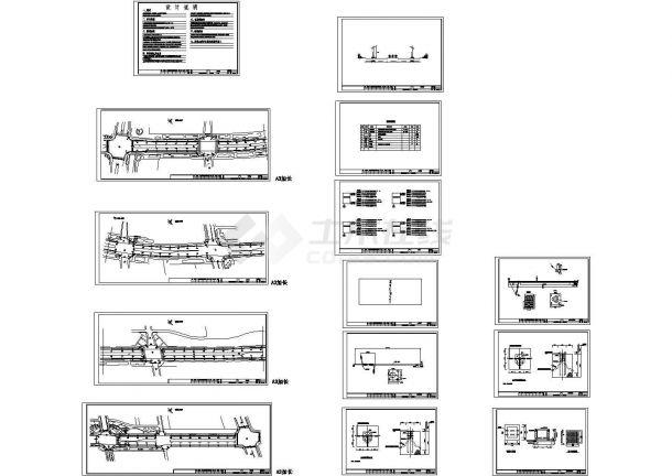一套市政路灯安装工程电气设计全套图纸-图一