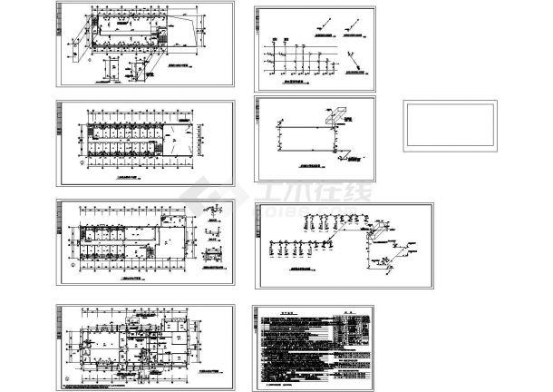 长51米 宽20米 3层医院宿舍楼给排水设计施工图-图一