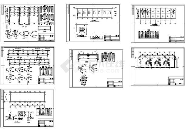 某水电站厂房建筑设计CAD图(共7张)-图一
