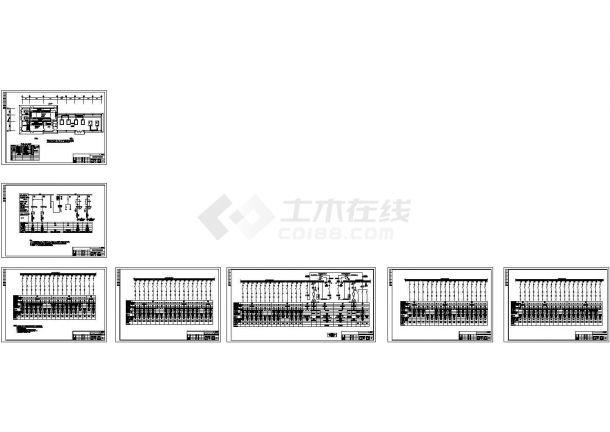 水质净化厂变配电间电气设计图纸(共7张)-图一