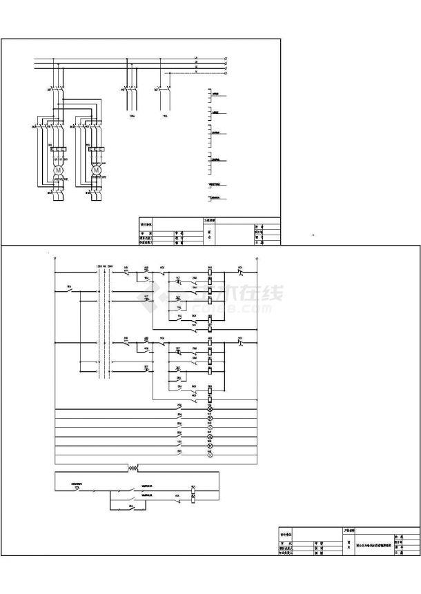 两泵互备电气原理图-图一