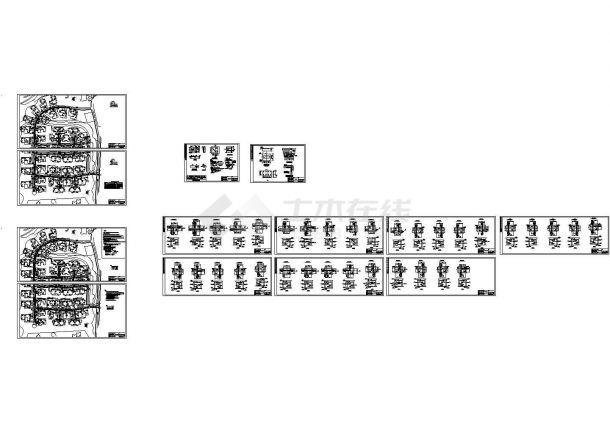 某别墅区室外热力管道工程设计cad全套施工图(标注详细)-图一