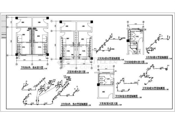 某幼儿园四层含地下室给排水施工图-图二