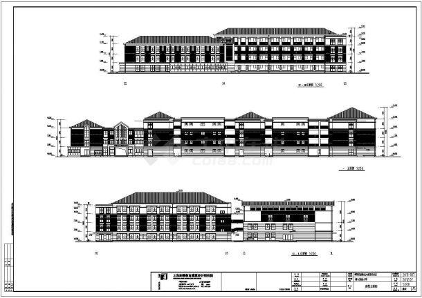 上海24班小学教学楼建筑方案设计图纸图片