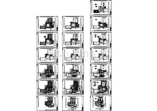 大学多层教学楼全套电气设计图纸(新火规新规范)-图一