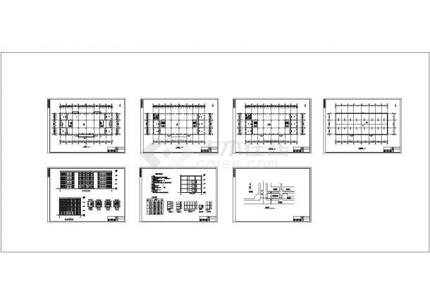 四层商场框架结构建筑施工cad图(毕业设计)-图一