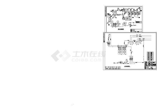 宾馆中央空调系统机房(涡旋机)CAD施工详图-图一