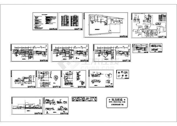 某县集中供热锅炉房设计CAD图纸方案-图二