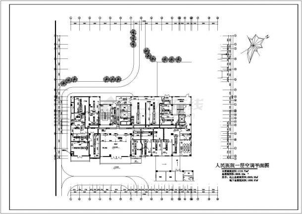 五层医院手术部洁净空调系统设计cad图纸-图一