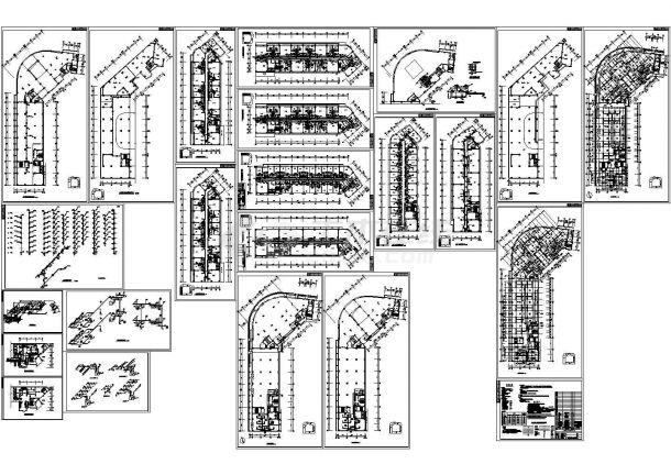 住宅综合楼舒适性空调及制冷系统设计施工图-图一