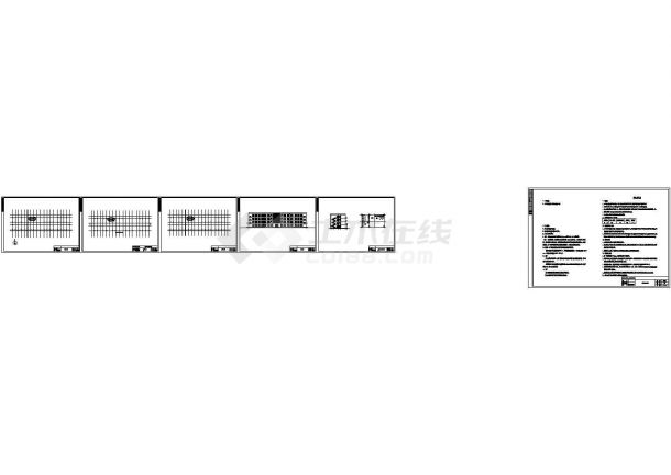 4500㎡四层框架结构建筑(含计算书,建筑、结构图,PKPM模型)-图二