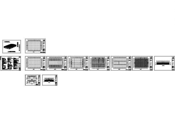 河南漯河某机械公司钢结构工程CAD施工图-图一
