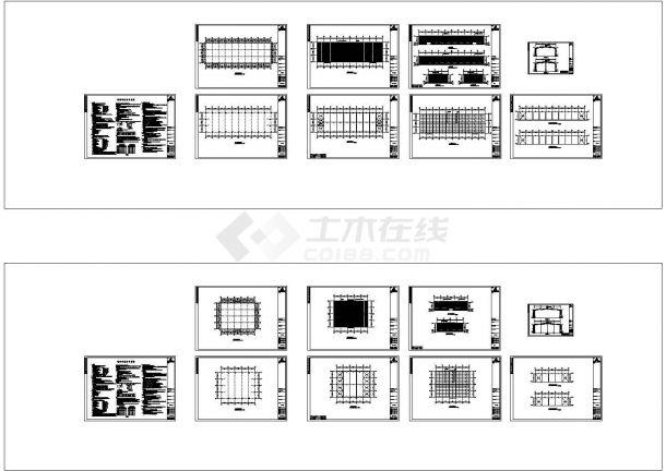 河南潘主任钢结构工程CAD施工图-图一