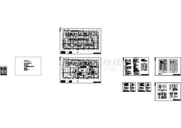 地上9层大型综合商场暖通施工CAD图纸-图一