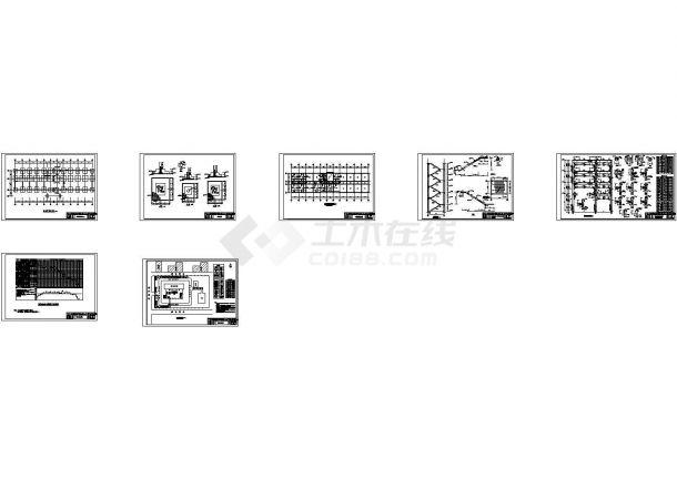 某4层2430平米办公综合楼设计CAD图(含实习总结和日记,施工图、施工组织设计图、工程量计算图等)-图一