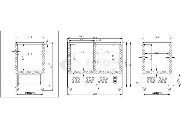 SCD188L冷柜箱体详图-图一