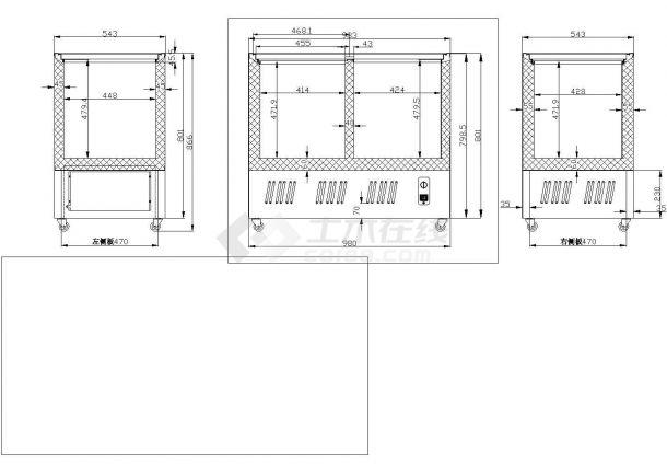 SCD188L冷柜箱体详图-图二