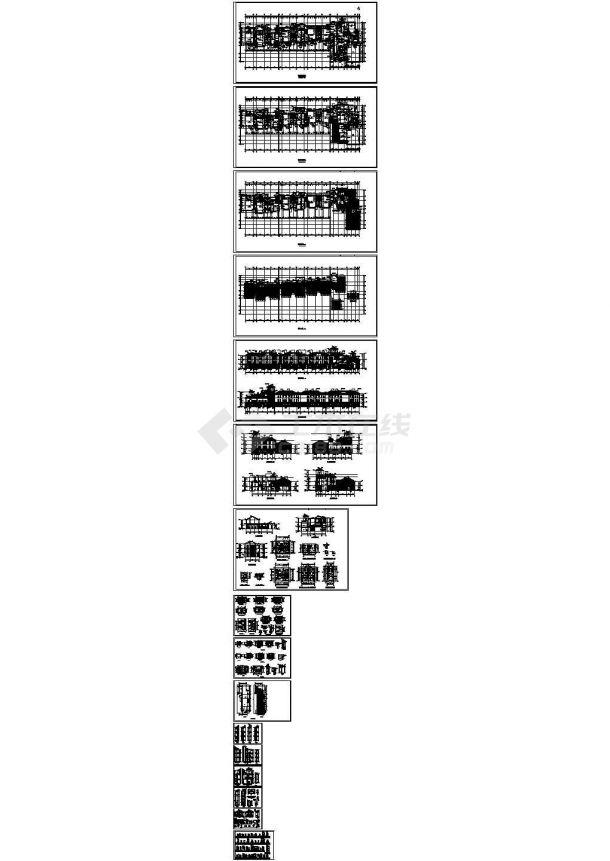 万科金域蓝湾小区三层幼儿园建筑设计施工图-图一
