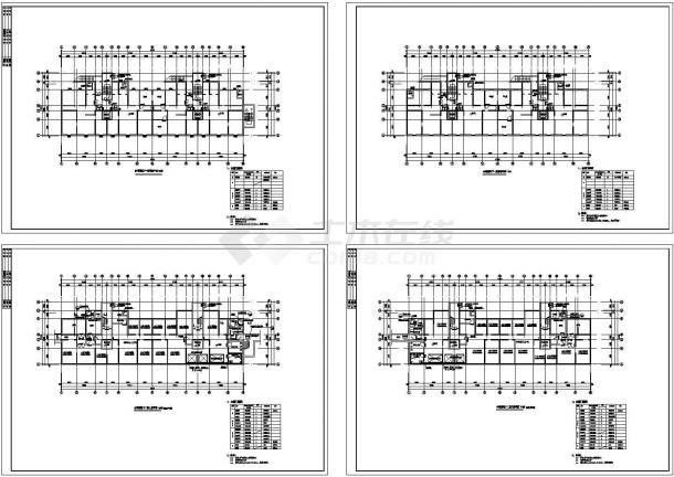 二层住宅地下室疏散建筑设计cad图,共四张-图一