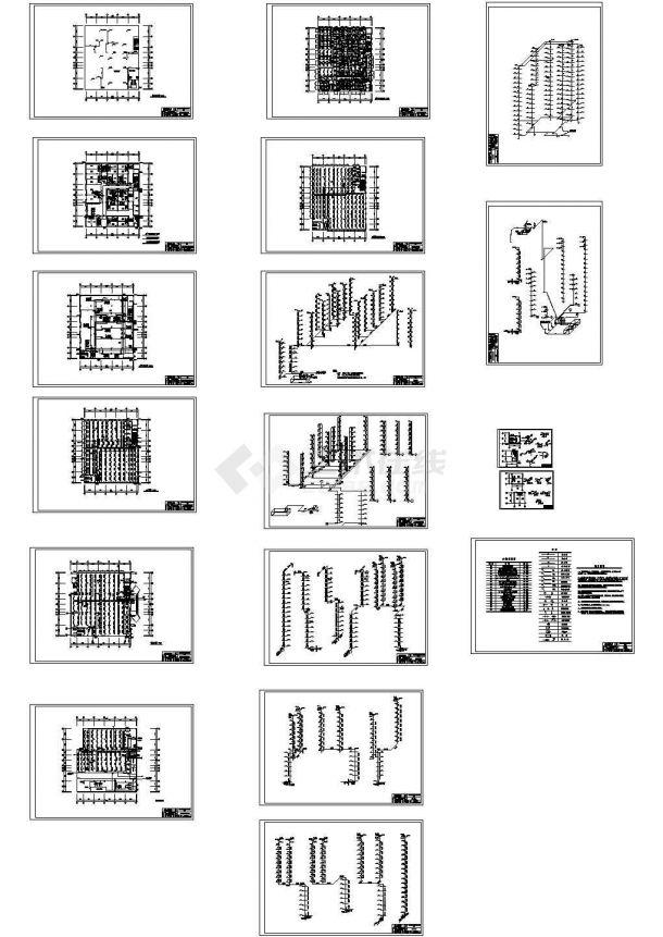 十六层综合楼给排水及消防工程设计方案施工图-图一