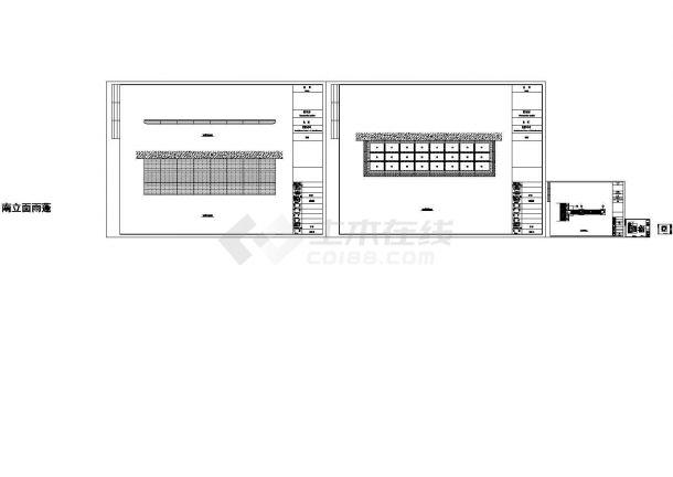 2.4米悬挑铝板雨棚施工图(标注详细 值得参考)-图一