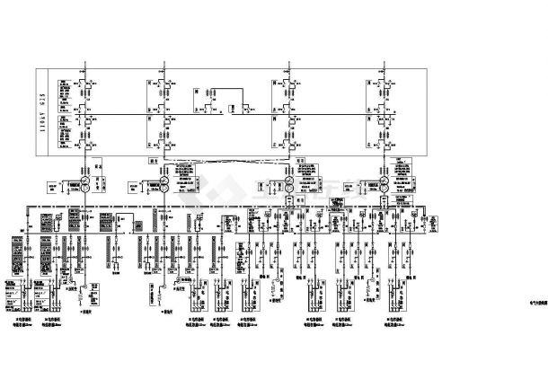 110kV变电所主接线(4台主变)-图一