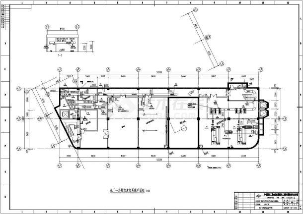 某地厂房综合楼溴化锂空调设计施工图-图一